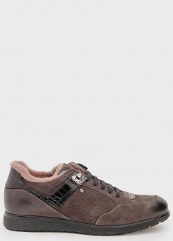 Зимние кроссовки Roberto Serpentini с черными вставками, фото