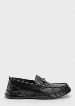 Кожаные лоферы Roberto Serpentini черного цвета, фото