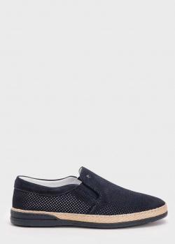 Замшевые туфли Roberto Serpentini с контрастной полосой, фото