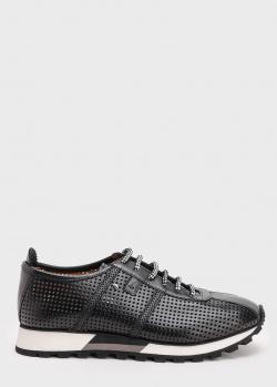Черные кроссовки Roberto Serpentini с перфорацией, фото