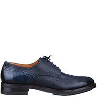 Мужские туфли Santoni темно-синего цвета, фото