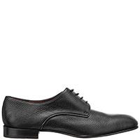 Черные туфли Fratelli Rossetti из зернистой кожи, фото