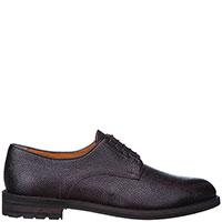 Туфли-дерби Santoni из зернистой кожи бордового цвета, фото