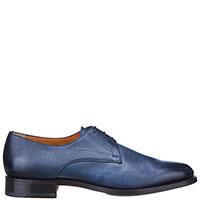 Туфли-дерби Santoni из кожи синего цвета, фото