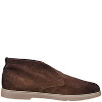 Замшевые ботинки Santoni коричневого цвета, фото