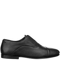 Черные туфли Santoni из зернистой кожи, фото