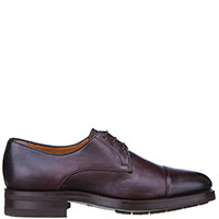 Мужские туфли Santoni бордового цвета, фото