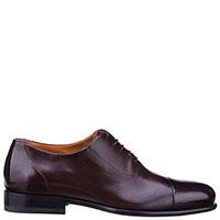 Мужские туфли Santoni коричневого цвета, фото