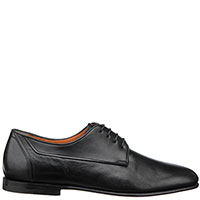 Черные туфли Santoni из гладкой кожи, фото