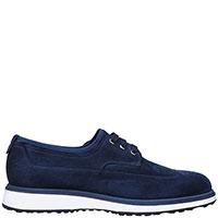 Замшевые туфли Santoni на шнуровке, фото