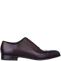 Мужские туфли Moreschi из кожи коричневого цвета, фото