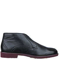 Утепленные ботинки Moreschi из кожи черного цвета, фото