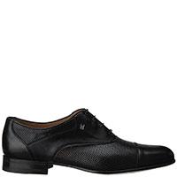 Черные туфли Moreschi с частичной перфорацией, фото