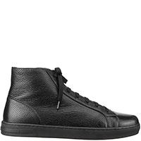 Черные ботинки Moreschi из зернистой кожи, фото
