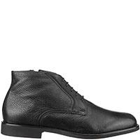 Ботинки Moreschi из черной зернистой кожи, фото