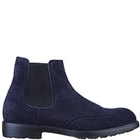 Ботинки-челси Moreschi из синей замши, фото