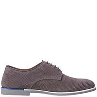 Замшевые туфли Fratelli Rossetti серого цвета, фото
