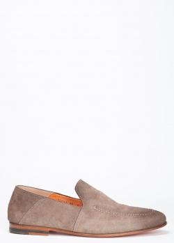 Лоферы Santoni из светло-коричневой замши, фото