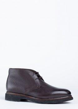 Ботинки Santoni из коричневой кожи, фото