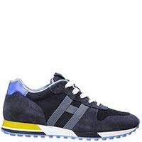 Черные кроссовки Hogan с синей вставкой, фото