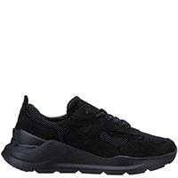 Черные кроссовки D.A.T.E. из замши и текстиля, фото