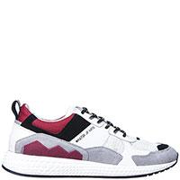 Белые кроссовки Moa с цветными вставками, фото