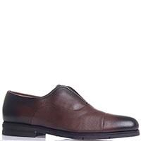 Коричневые туфли Santoni без шнуровки, фото