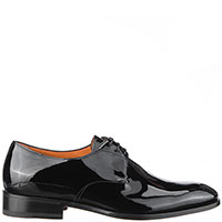 Черные туфли Santoni из лаковой кожи, фото