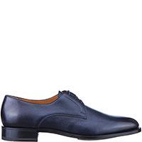 Синие туфли Santoni на шнуровке, фото