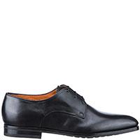 Туфли-дерби Santoni черного цвета, фото