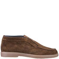 Коричневые ботинки Santoni без шнуровки, фото