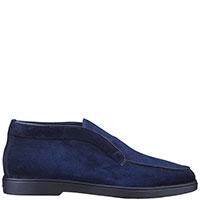 Замшевые ботинки Santoni синего цвета, фото