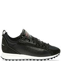 Черные кроссовки Dsquared2 со вставками из замши, фото