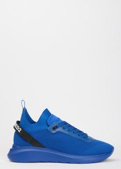 Синие кроссовки Dsquared2 на толстой подошве, фото