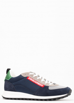Кроссовки Dsquared2 темно-синего цвета, фото