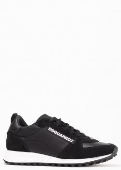 Кроссовки Dsquared2 черного цвета с логотипом, фото