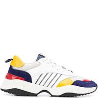 Белые кроссовки Dsquared2 с цветными вставками, фото