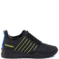 Черные кроссовки Dsquared2 на шнуровке, фото