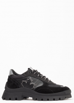 Черные кроссовки Dsquared2 на массивной подошве, фото