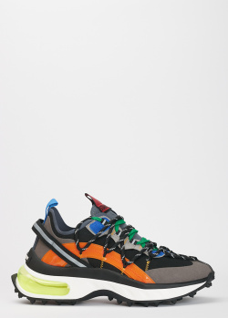 Мужские кроссовки Dsquared2 с разноцветными вставками, фото