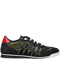 Камуфляжные кроссовки Dsquared2 с лаковыми вставками, фото