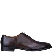 Коричневые оксфорды Doucal's с затемнением на носке, фото