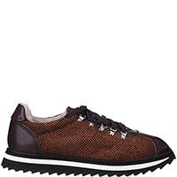 Утепленные кроссовки Doucal's коричневого цвета, фото