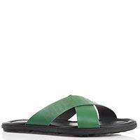 Сланцы зеленого цвета Moschino из кожи, фото