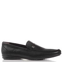 Туфли из черной кожи Giovanni Conti без шнуровки, фото