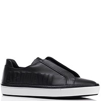 Кеды без шнуровки Giorgio Armani черного цвета, фото