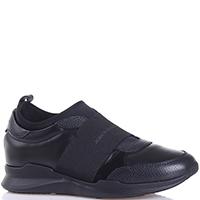Кроссовки John Galliano из кожи черного цвета, фото
