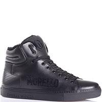 Черные ботинки из гладкой кожи Frankie Morello на меху, фото