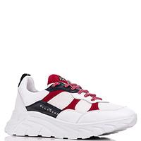 Белые кроссовки John Richmond с красными вставками, фото
