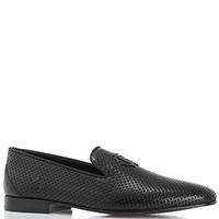 Мужские черные туфли Roberto Cavalli с перфорацией, фото